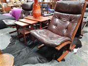 Sale 8684 - Lot 1091 - Pair of Falcon Chairs with Leather Upholstery