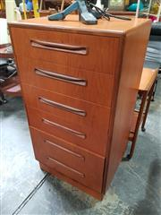 Sale 8839 - Lot 1073 - G-Plan Teak Tallboy of Six Drawers