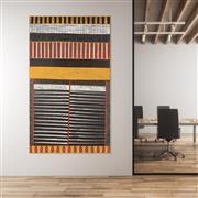 Sale 8743 - Lot 532 - Pedro Wonaeamirri (1974 - ) - Pwoja-Pukumani Body Paint Design, 2006 200 x 120cm (stretched and ready to hang)