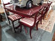 Sale 8745 - Lot 1033 - Regency Style 7 Piece Dining Suite