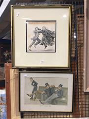 Sale 8771 - Lot 2088 - 2 Legal Related Works: Artist Unknown - Parnell v Aute Parnell & Spy Vanity Fair Caricature The Bar Common Room -