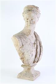 Sale 8802 - Lot 497 - Papier Mache Bust of Lady with Diadem (H 59cm x W 31cm)