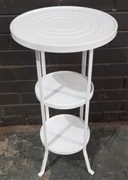 Sale 8959 - Lot 1055 - Metal Pot Stand (H:75 x D:38cm)