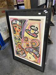 Sale 9004 - Lot 2078 - Contemporary Editioned Print of Cafe Ladies, 94.5 x 65cm (frame), signed