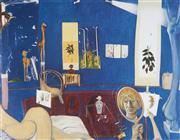 Sale 9081A - Lot 5057 - Brett Whiteley (1939 - 1992) - Self Portrait in the Studio 48 x 61.5 cm (frame: 83 x 98 x 3 cm)