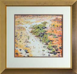 Sale 9256H - Lot 24 - Neroli Weaver - Mulga Trees signed lower right, ex Joans Ridge Street Art Gallery, 2005