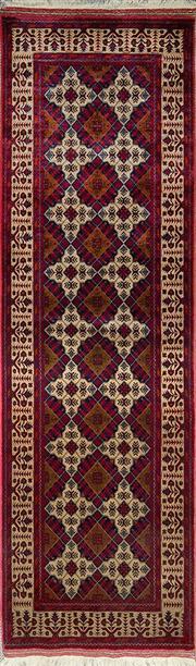 Sale 8353C - Lot 86 - Afghan Beljic 310cm x 80cm