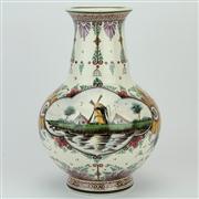 Sale 8372 - Lot 34 - Delft Polychrome Vase