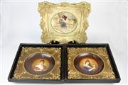 Sale 8436 - Lot 5 - Austrian Victoria Bowls Depicting Ladies