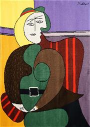 Sale 8467 - Lot 549 - Pablo Picasso (1881 - 1973) - Femme assisse dans un fauteuil rouge, 1931 130 x 170cm