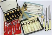 Sale 8635W - Lot 65 - Rodd Silver Plated Cutlery Wares with Other Utensils incl. Bone Letter Opener