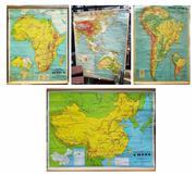 Sale 8661 - Lot 1094 - Vintage School Maps (4)