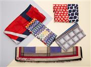 Sale 8661F - Lot 52 - Five assorted handkerchiefs and scarves, to include examples by Anne Klein, Liberty of London, the longest 130cm