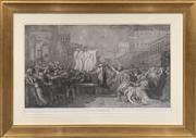 Sale 8686 - Lot 2052 - C18th Lithograph Depicting Classical Roman Scene, Virginius 93 x 131 cm (frame size)