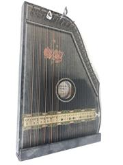 Sale 8715 - Lot 3 - Vintage Zither With Rose Motif