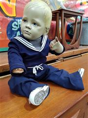 Sale 8822 - Lot 1022 - Vintage Fibreglass Child Mannequin in Navy Blue Sailors Outfit