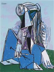 Sale 8985A - Lot 5001 - Pablo Picasso (1881 - 1973) - The Thinker 66 x 51 cm (frame: 104 x 87 x 3 cm)