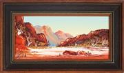 Sale 9082 - Lot 2030 - Henk Guth (1921 - 2003) - Ormiston Gorge 9 x 19.5 cm (frame: 15 x 26 x 2 cm)
