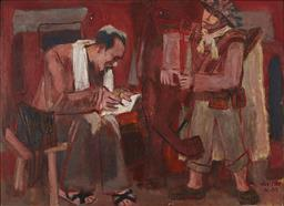 Sale 9118A - Lot 5045 - Van Tho - Instruction to Soldier, 1986 - 88 100 x 138.5 cm