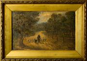 Sale 8418A - Lot 28 - Artist Unknown - Pastoral Scene - Sheep Herding 40 x 65cm