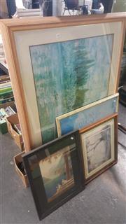 Sale 8433 - Lot 2060 - 4 Framed Prints