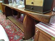 Sale 8469 - Lot 1040 - Rough Sawn Timber Bench