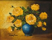 Sale 8563T - Lot 2091 - Artist Unknown - Still Life - Yellow Roses 19 x 24.5cm