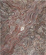 Sale 8743 - Lot 539 - Lloyd Kwilla (1980 - ) - Kulyayi Waterhole, Bushfire Series 4, 2006 150 x 180cm (stretched and ready to hang)