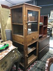 Sale 8822 - Lot 1586 - Pine Cabinet with Mesh Doors (AF)