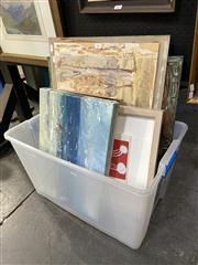 Sale 8888 - Lot 2012 - Group of Assorted Contemporary and Modern Paintings by Various Artists