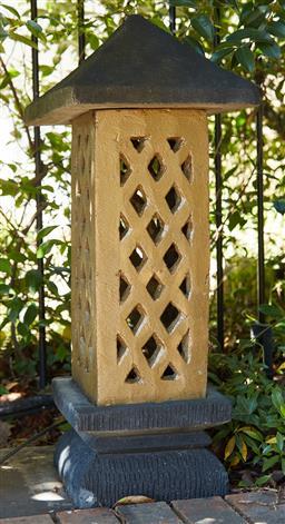 Sale 9097H - Lot 5 - A painted concrete Lantern. Height 80cm