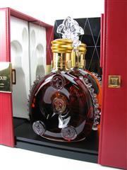 Sale 8290 - Lot 402 - 1x Remy Martin Louis XIII Grande Champagne Cognac - Baccarat Crystal decanter w stopper in presentation box (current release)