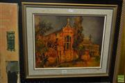 Sale 8537 - Lot 2065 - Alex McMillan Church at Riverview mixed media SLR