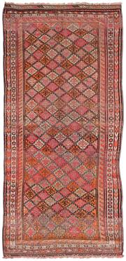 Sale 8725C - Lot 8 - An Antique Persian Tribal Carpet, Hand-knotted Wool, 258x120cm, RRP $3,400
