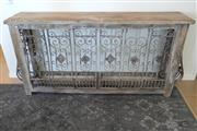 Sale 8858H - Lot 38 - Timber and Wrought Iron Console, H 93 x L 180 x D 40 cm -