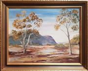 Sale 8891 - Lot 2054 - Jeanette Hodgen - In The Flinders Ranges, oil  Dimensions of Frame - 52.5cm x 42.5cm