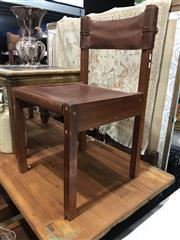 Sale 8893 - Lot 1026 - Set of Ten Rosewood & Leather Dining Chairs