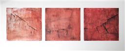 Sale 9002A - Lot 5039 - Katherine Driscoll - Broken Promise (Triptych) 50 x 50 cm (each)