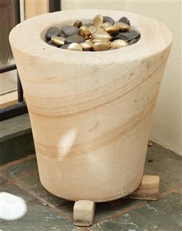 Sale 9097H - Lot 6 - A sandstone effect pot Height 40cm