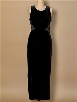 Sale 9093F - Lot 93 - A Rhapsody long black velvet evening dress (petite), size 6-8
