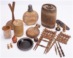 Sale 9190E - Lot 75 - A collection of timber and other trinkets
