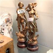 Sale 8351 - Lot 72 - Spelter Figures