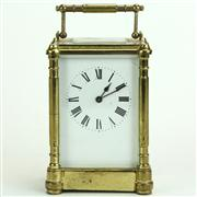 Sale 8413 - Lot 62 - English Brass Carriage Clock