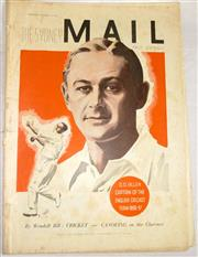 Sale 8460C - Lot 65 - The Sydney Mail front cover Wednesday November 11, 1936 of Gubby Allen plus two page story. Good –