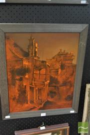 Sale 8525 - Lot 2004 - Alex McMillan (1910 - 1987) - Balmain Pubs 44.5 x 36.5cm