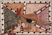 Sale 8743 - Lot 594 - Susan Wanji Wanji (1955 - ) - Hunting Wallabies 50 x 75cm (stretched and ready to hang)
