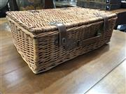 Sale 8822 - Lot 1218 - Wicker Picnic Basket with Contents