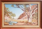 Sale 8891 - Lot 2059 - Olga Kopetsky -Alice Springs, oil, Dimensions of Frame - 80.5cm x 57cm