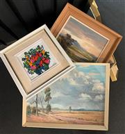 Sale 8932 - Lot 2061A - Box of Assorted Original Oil Paintings and Watercolour