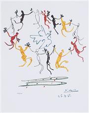 Sale 8985A - Lot 5003 - Pablo Picasso (1881 - 1973) - Le Rhonde 63.5 x 49.5 cm (frame: 104 x 87 x 3 cm)